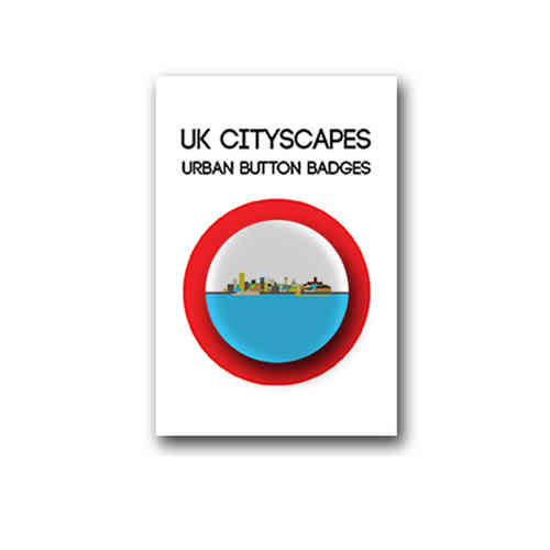 Cityscape Liverpool badge individual