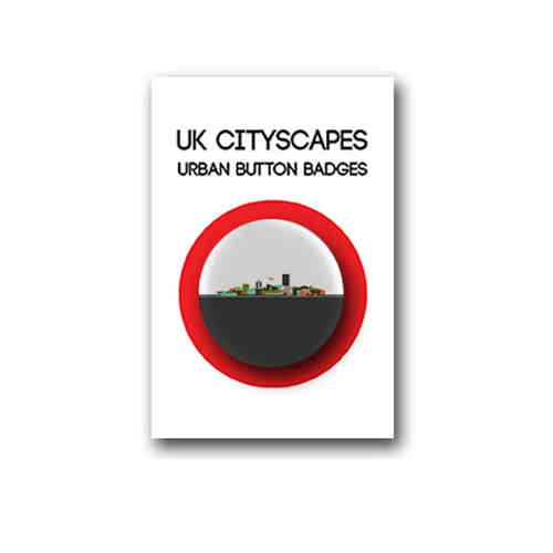 Cityscape Manchester badge individual