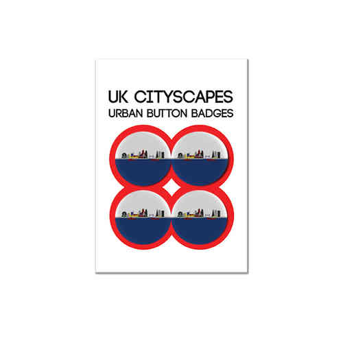 Cityscape London badge multipack of four