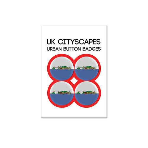 Cityscape Bristol badge multipack of four