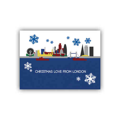 Cityscape London christmas card