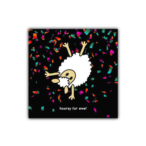 Black sheep card hooray for ewe (generic)