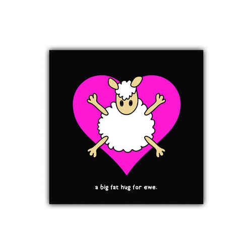Black sheep card hug for ewe (generic)