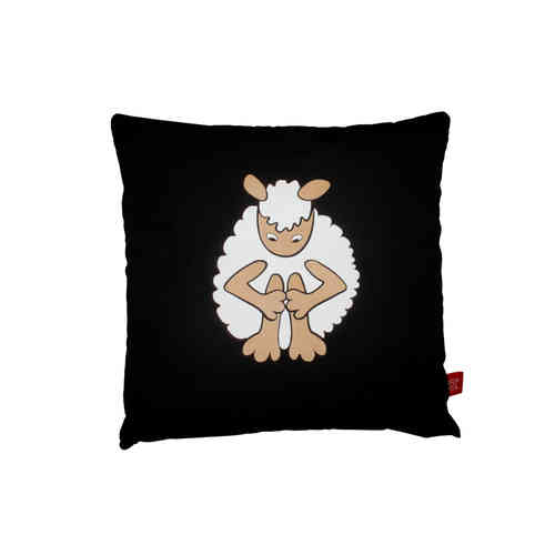 Black sheep alone cushion