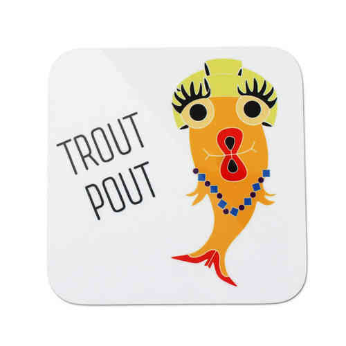 Blank fish trout pout coaster
