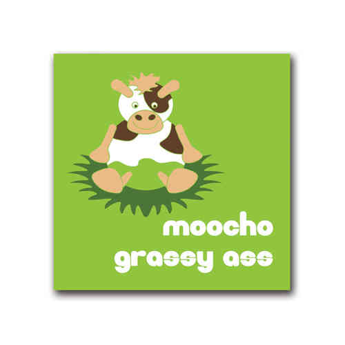 Moody cow grassy ass card