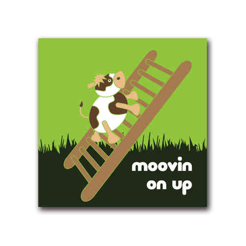 Moody cow moovin on up card