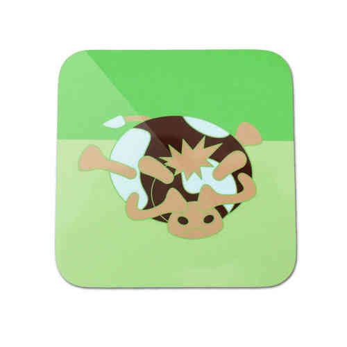 Moody cow slumped cow coaster