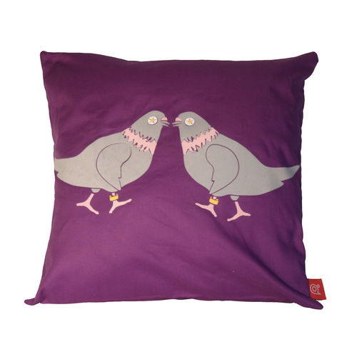 Pigeon pop put a ring on it cushion