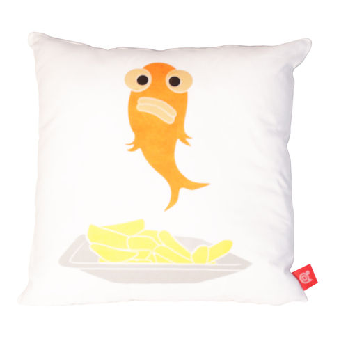 Blank fish batter off alone cushion