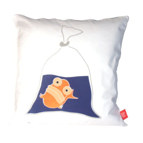 Blank fish fish in a bag cushion