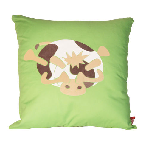 Moody cow slumped cow cushion