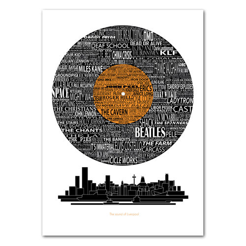 Sounds of the city Liverpool print