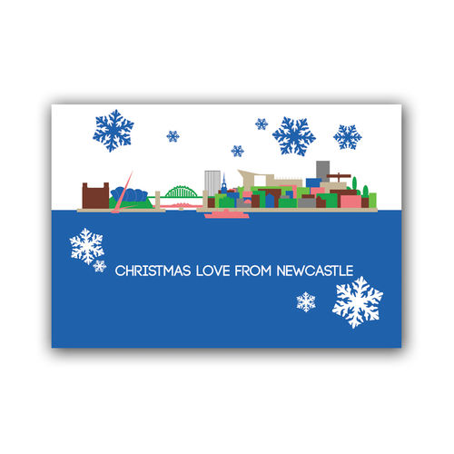 Cityscape Newcastle christmas card